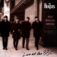 Live At The BBC album front cover.