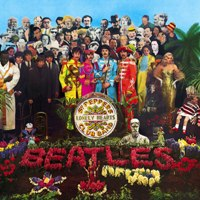 Sgt. Pepper's Lonely Hearts Club Band album front cover.