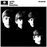 With the Beatles album front cover.